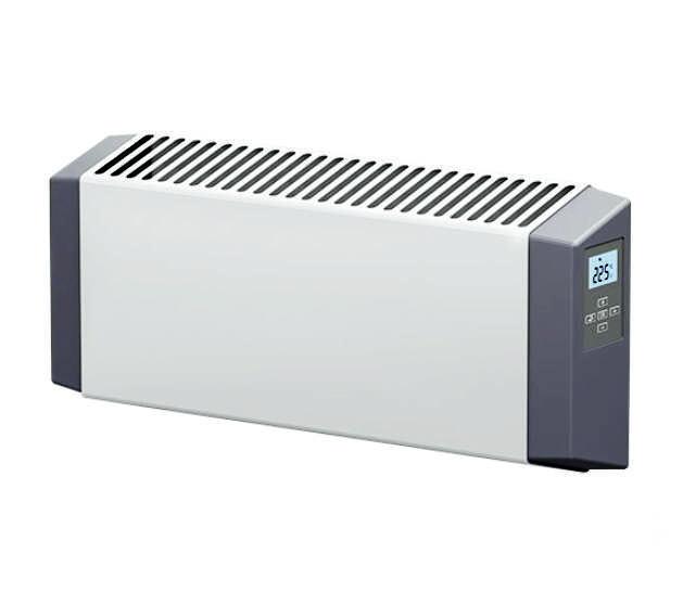 TWSE grzejnik ze stali malowanej z termostatem  IP44 moc 1000W
